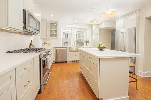 Historic 1930s Philadelphia kitchen that was remodeled for a trained chef.