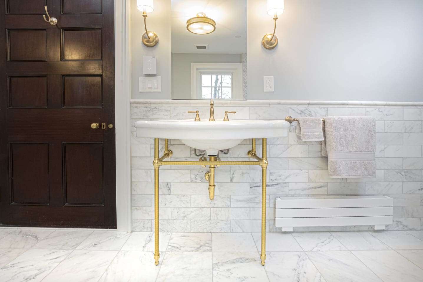 Stunning master bathroom remodel in historic Philadelphia home