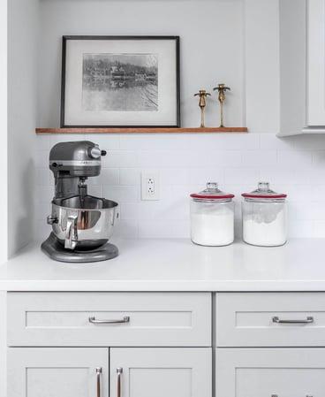 Baking Prep Area in Kitchen