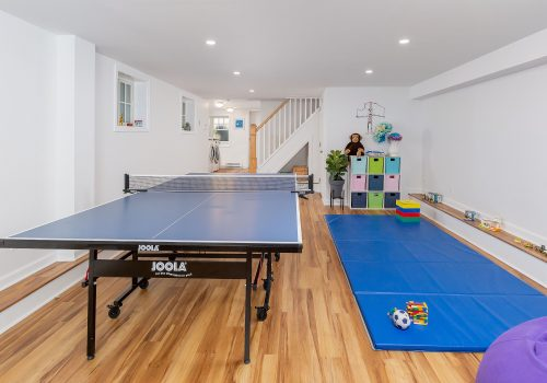 Sports Ready Basement with Full Bath & Laundry Room