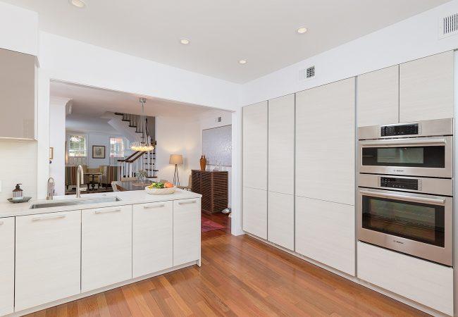 Sleek Minimalist Kitchen With Cafe Style Door Bellweather Design Build,Patch Work Back Side Simple Blouse Back Neck Designs Images