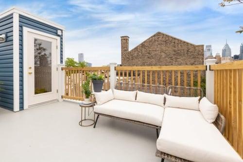 Fiberglass roof deck with Pilot House