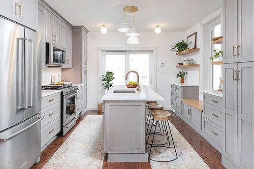 Transitional West Philly Kitchen Transformation with a Touch of Mid-Century Modern