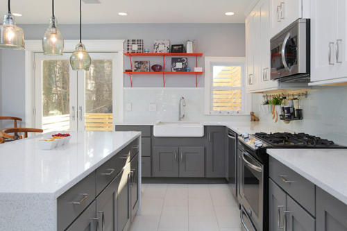 Whole-house redesign with custom accents in University City