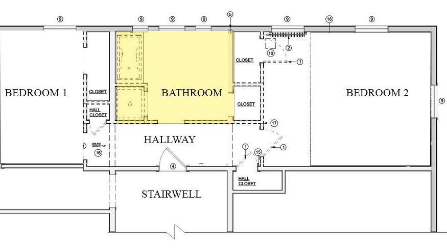 Before Bathroom Floor Plan