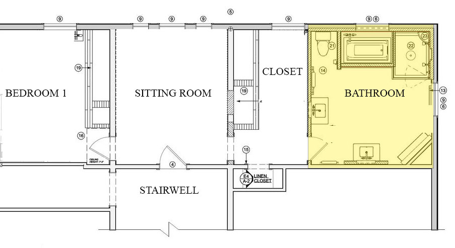 After Bathroom Floor Plan