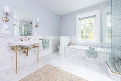 Stunning master bathroom remodel in historic Philadelphia home
