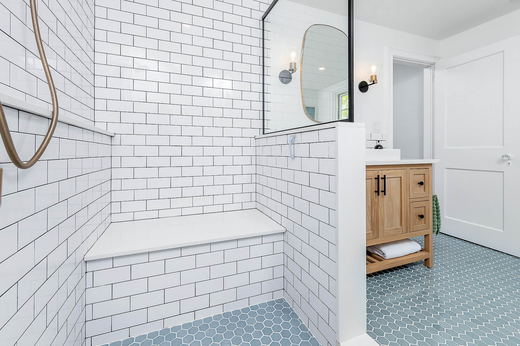 Large Shower in Small Bathroom