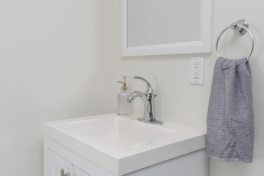 Smaller Sink with Mirror