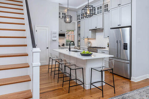 Urban Transitional Remodel Highlights Philadelphia Row Home
