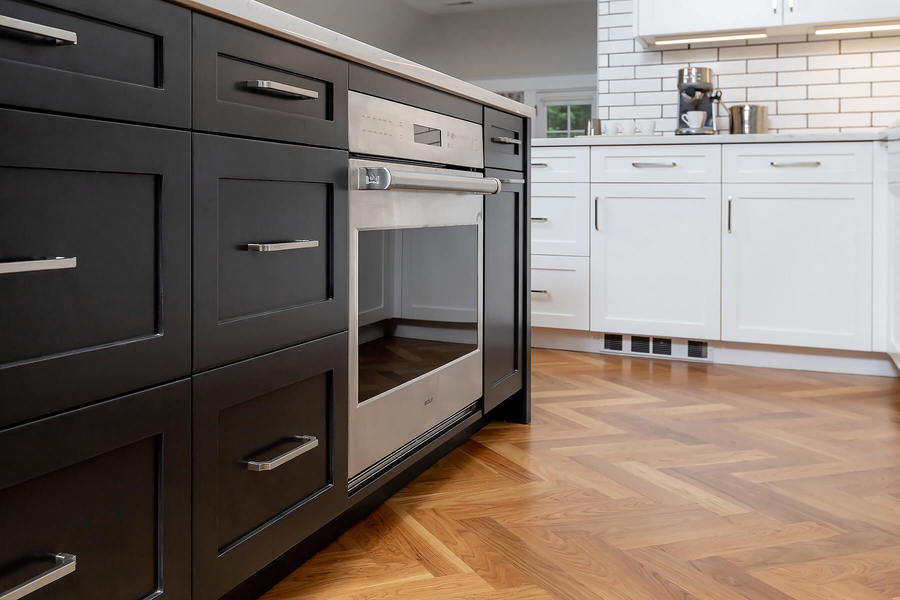 Transitional stainless steel dishwasher by Bellweather Design-Build