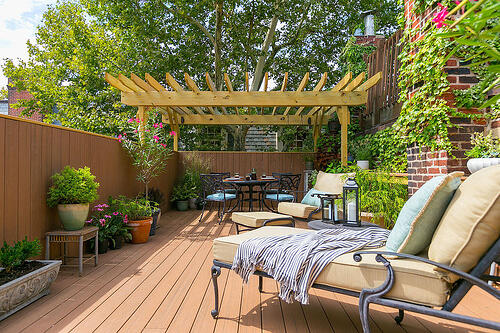 A Custom Built Rooftop Deck in Fitler Square with Multiple Spaces to Enjoy