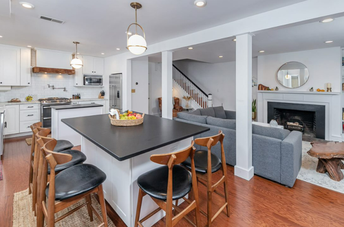 Partial house remodel with open-concept kitchen