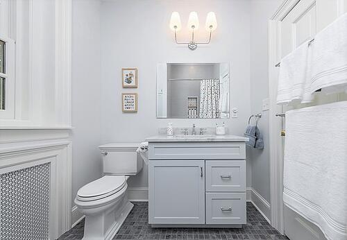 Jack and Jill bathroom remodel in Mt. Airy