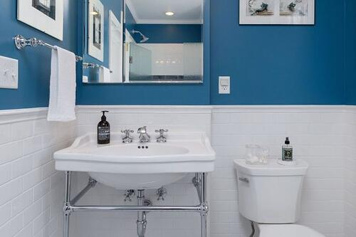 A transitional style hall bath in Mt. Airy
