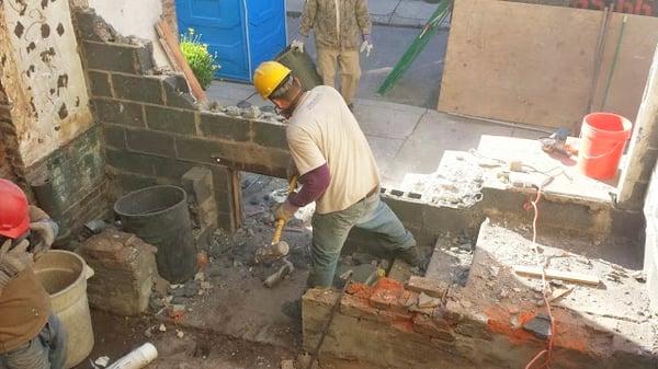 Three story addition foundation work in Bella Vista Philadelphia