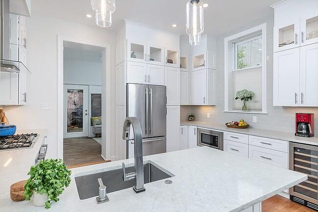 White Modern Transitional Kitchen