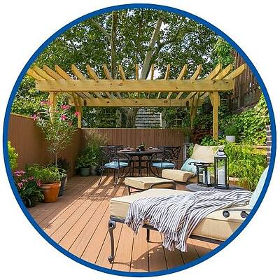 photo of rooftop deck with gondola completed by Bellweather Design Build in Philadelphia