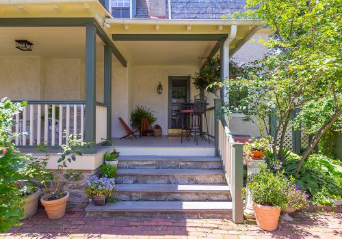 Chestnut-Hill-Porch-view-from-yard-stairs-door-500x350